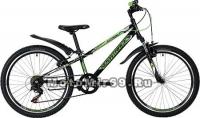 Велосипед 24'' NOVATRACK EXTREME (6ск,сталь.рама 10, TY21/RS35/SG-6SI, V-brake) черный 134055