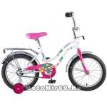 Велосипед 16'' NOVATRACK TETRIS (1ск, тормоз нож., крылья цвет, багажник хром) 124267, белый,