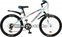 Велосипед 24'' NOVATRACK EXTREME (6ск,МТВ,рама ст.12,TY21/RS35/TZ21I, V-brake) 117108 белый
