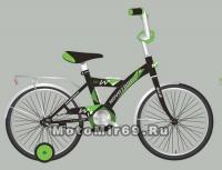 Велосипед 16 NOVATRACK TWIST (1ск,тормоз нож, крылья цвет, багажник хром.) черный