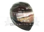 Шлем TRANSFORMER Safelead LX-119 с встр. очками, черный, серебристый размер ХL
