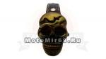Часы-брелок с откидной крышкой в форме черепа (бронзового цвета)