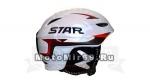 Шлем горнолыжный STAR S3-12 (со съемной защитой Белый с серо-красными накл.)