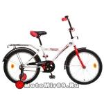 Велосипед 20'' NOVATRACK ASTRA (1ск,рама сталь, тормоз нож. Vbr, багаж.) 133943, белый