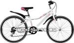 Велосипед 24 NOVATRACK ALICE (рама ст.10, 6 ск,TY21/RS35/SG-6SI, V-brake) 134072 белый