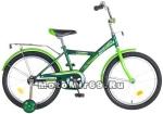 Велосипед 20'' NOVATRACK FOREST (1ск,рама сталь,торм.ножной,багаж.,зв.) 85346 зеленый