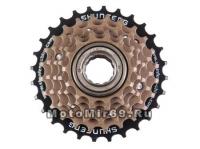 Трещотка 6 ск.SHUNFENG 14-16-18-21-24-28T недискретная коричневая