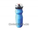 Фляга вело 600мл, голубая пластик (EB-06)