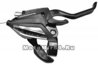 Шифтер/тормозная ручка Shimano EF500 прав. 7 скор., тр.2050мм, цвет-черный