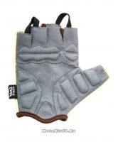 Перчатки вело женские, Lady, гелевые вставки, цвет бежевый, размер M