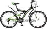 Велосипед 26 STINGER BANZAI (2х.подв,18ск,рама ст 18,торм.обод.V, TZ30/TY21/TS-38) 117349 черный