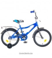 Велосипед 16'' NOVATRACK COSMIС (тормоз нож., крылья, багажник хром) синий