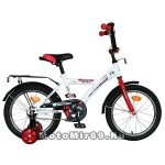 Велосипед 18 NOVATRACK ASTRA (1ск, рама сталь,тормоз ножной, багаж.хром,зв) белый