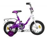 Велосипед 12 NOVATRACK MAPLE (тормоз нож.,крылья хром.,багажник хром.) UL 117039 фиолетовый