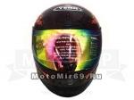 Шлем интеграл YM-802А YAMAPA, размеры M, (цветной + прозрачный визор)