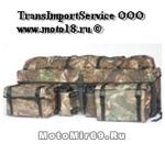 Кофр задний (можно на перед) 9030 черный, ткань-полиэстер, с каркасом, 2 съем. сумки, карм. для фляг