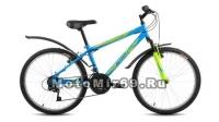 Велосипед 24 FORWARD ALTAIR MTB HT (18ск, рама 14сталь,пласт.крылья, вилка ход 30мм.) синий
