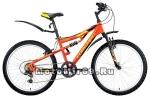 Велосипед 24 FORWARD CYCLONE 1.0 (2х подвес,6 ск,рама 14,5 сталь,торм.V-Brake) оранжевый/черный