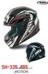 Шлем интеграл SHIRO SH-335 MOTION, размер XL, (1уп =6 шт) (красный, черный)