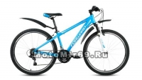 Велосипед 26 FORWARD TORONTO 1.0 (18 ск, рама 14) синий мат, черный мат.
