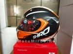 Шлем интеграл SHIRO SH-881 MOTEGI, размер M (1уп =6 шт) (оранжевый с черным)