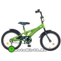 Велосипед 16 NOVATRACK DELFI (защита А-тип, короткие крылья, нет багажника) зеленый
