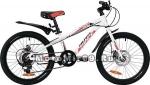 Велосипед 20'' NOVATRACK PRIME (6-скор, TY21/TS38/SG-6SI, диск.тормоз ARTEK) 133970, белый