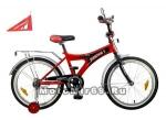 Велосипед 20 NOVATRACK S, FORMULA (1ск,торм.1 руч.нож,крылья,багажник хромир) черн/крас