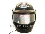 Шлем интеграл FALCON XZF01, размер M (2 виз-прост.и усиленный) оld decal red black 1 black grey blue
