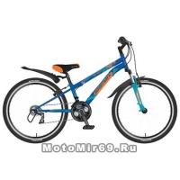 Велосипед 24 NOVATRACK ACTION (18ск,рама сталь 12, Shimano,TY21/TZ30/RS35/SG-6SI) 117113 синий