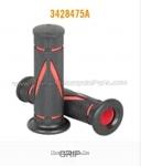 Ручки руля, рисунок красные диагональные полоски на черном фоне (3428475A)