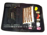 Набор для рем. шин №1 унив., сумка (камер (заплатки, клей), бескамер (жгуты, инстр., балоны накачки)