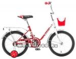 Велосипед 16 NOVATRACK MAPLE (торм.нож,крыл. цвет, баг.хром.пер.корзина) 117095 красный