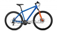 Велосипед 29 FORWARD SPORTING 2.0 DISK (18ск, рама 17,19) синий, серый