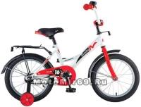 Велосипед 20 NOVATRACK STRIKE (ножной тормоз, цветные крылья, багажник черный) 126771 бело-красный