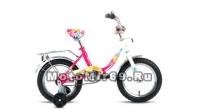 Велосипед 14 FORWARD ALTAIR CITY GIR (1ск, рама сталь, торм.ножной,багаж. поддерж.колеса)