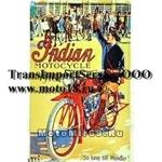 Панно винтажное (как в МОТО-барах, эстамп (сталь) +краска) 30x20 см INDIAN MOTORCYCLE 1916