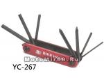 Набор инструментов BIKE HAND YC-267 складной: шестигранники 2/3/4/5/6мм, отвёртки +/-, в торг.уп.