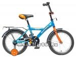 Велосипед 16'' NOVATRACK ASTRA (1ск,защита А-тип, крылья и багажник хром) синий
