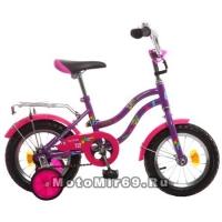 Велосипед 12 NOVATRACK TETRIS (1-ск, тормоз нож.,крылья цвет,багажник хр)098560 фиолетовый
