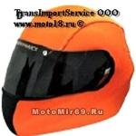 Обтяжка шлема COVER HELMET, рисунок ORANGE (синтет., защищает шлем, меняет внеш.вид, легко снять)