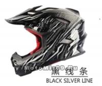Шлем вело кроссовый CIGNA T-42, черно-серый размеры M