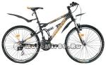 Велосипед 26 FORWARD FLARE 1.0 (2-х подвесный.,21 ск,рама ал.16,торм.V-br) черный матов.