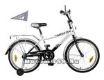 Велосипед 20 NOVATRACK TAXI (1ск,тормоз 1 руч.нож,крылья и багаж.хромир.,гудок) 107091 черн/бел
