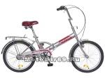 Велосипед 20'' FS-30 NOVATRACK (складной,1ск,тормоз нож, широкое седло) серый