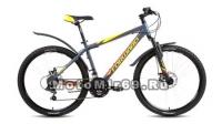 Велосипед 26 FORWARD HARDI 2.0 DISC (21 ск, рама 17 ал.сплав, Hard,торм.диск) серый, бирюзовый