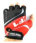 Перчатки вело, цвет черный с красным, размер S