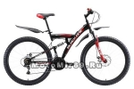Велосипед 27,5 BLACK ONE Flash FS (рама 18) черно красно белый