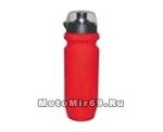 Фляга вело 500мл, красная пластик (EB-04)