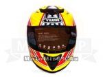 Шлем интеграл YM-822 YAMAPA, размер XL, графика ТЕХНО (цветной + прозрачный визор)